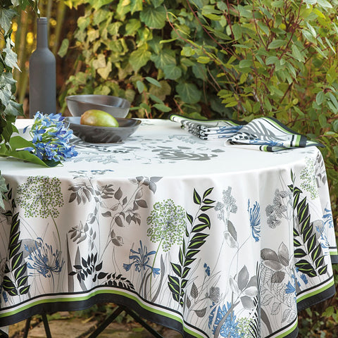 Agapanthes Cotton Tablecloth