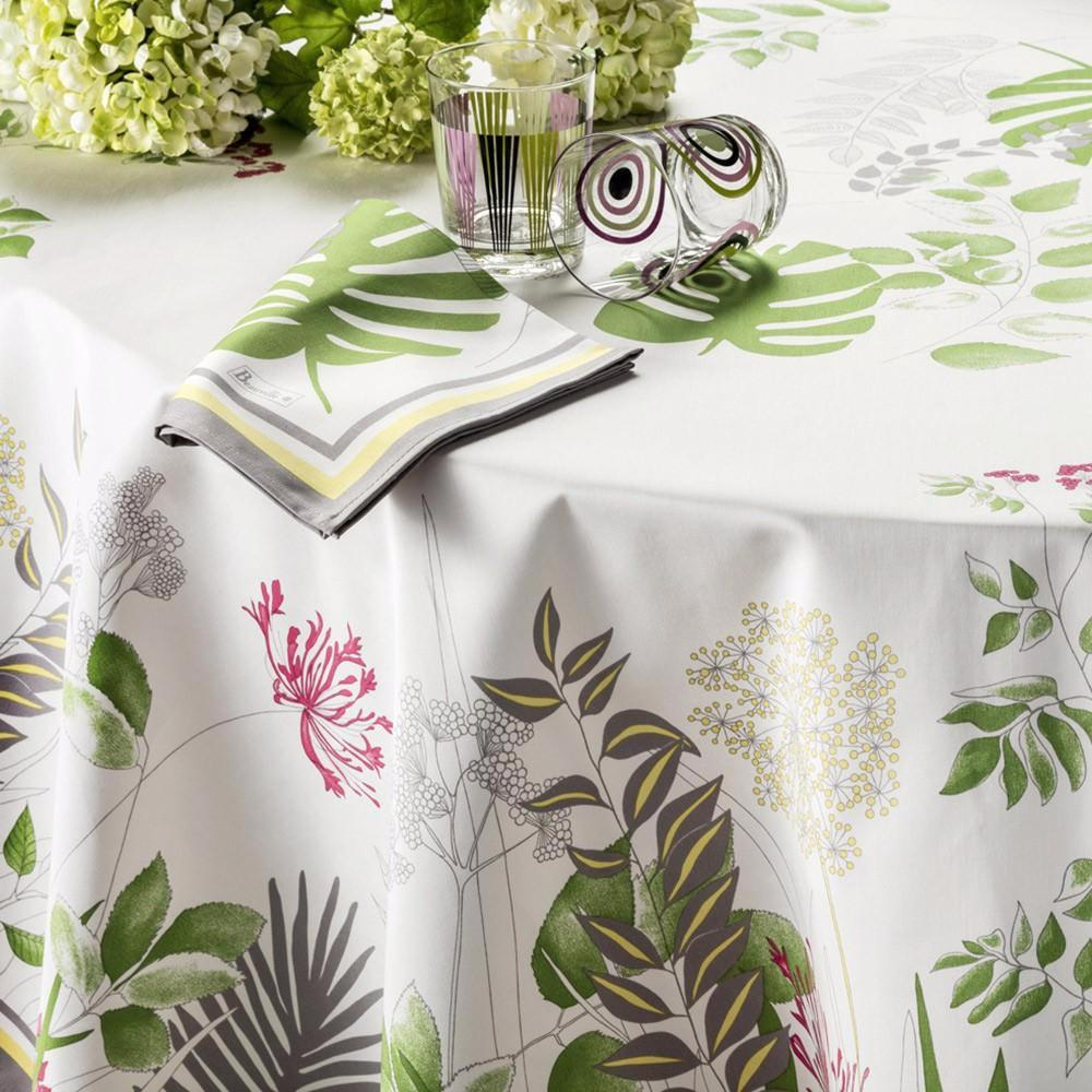 Agapanthes Grey Tablecloth