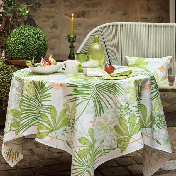 Grandes Palmes, Anise Tablecloth