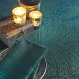 Isaphire Emeraude (Emerald) Tablecloth, High Thread Count