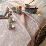 Mille Charmes Rose, Fumé (Smoky Pink) Tablecloth, 2 Sizes