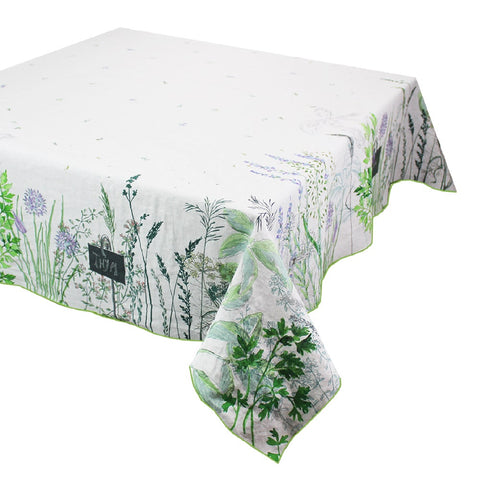 Jardin Aromatique Floraison Tablecloth, Cotton/Linen Blend