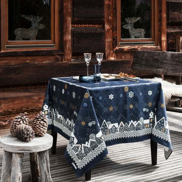 Beauvillé, La Nuit Étoilée, Midnight Blue Christmas Tablecloth