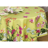Beauvillé, Orchidées (Orchids), Green Table Runner