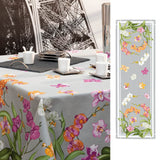 Orchidées (Orchids), Gray, Table Runner
