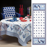 Picoti, (Hens) Blue Tablecloth