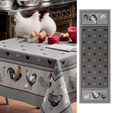 Picoti, (Hens) Black / Gray Table Runner