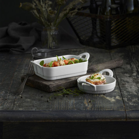 "Pillivuyt Medium Oval Casserole with Lid, 7.5"", 1 Quart"