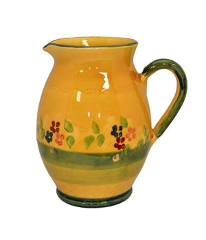 "Souleo, Round Water Pitcher / Jug, 9"" Tall"