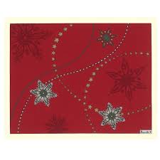 "Red Galaxie Christmas / Holiday Tablecloth, 67"" x 95"""