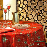 Red Galaxie Christmas / Holiday Tablecloth, 67