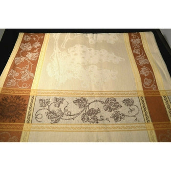 "Tavel Natural (Beige) French Provence Jacquard Tablecloth, 65"" x 65"""