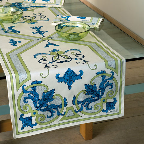 Trianon Blue & Cream Tablecloth
