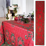 Winter Red Holiday Tablecloth