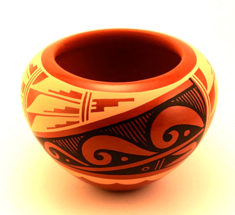 Handmade Tricolor Jemez Bowl by C. G. Loretto