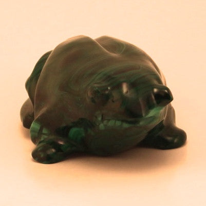 Handcrafted Malachite Frog