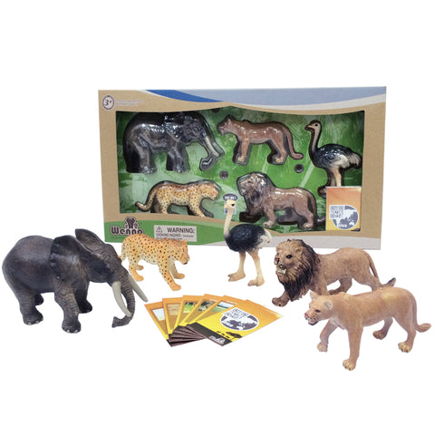 Jungle Safari Animal Set (Series 1) with Collector Cards