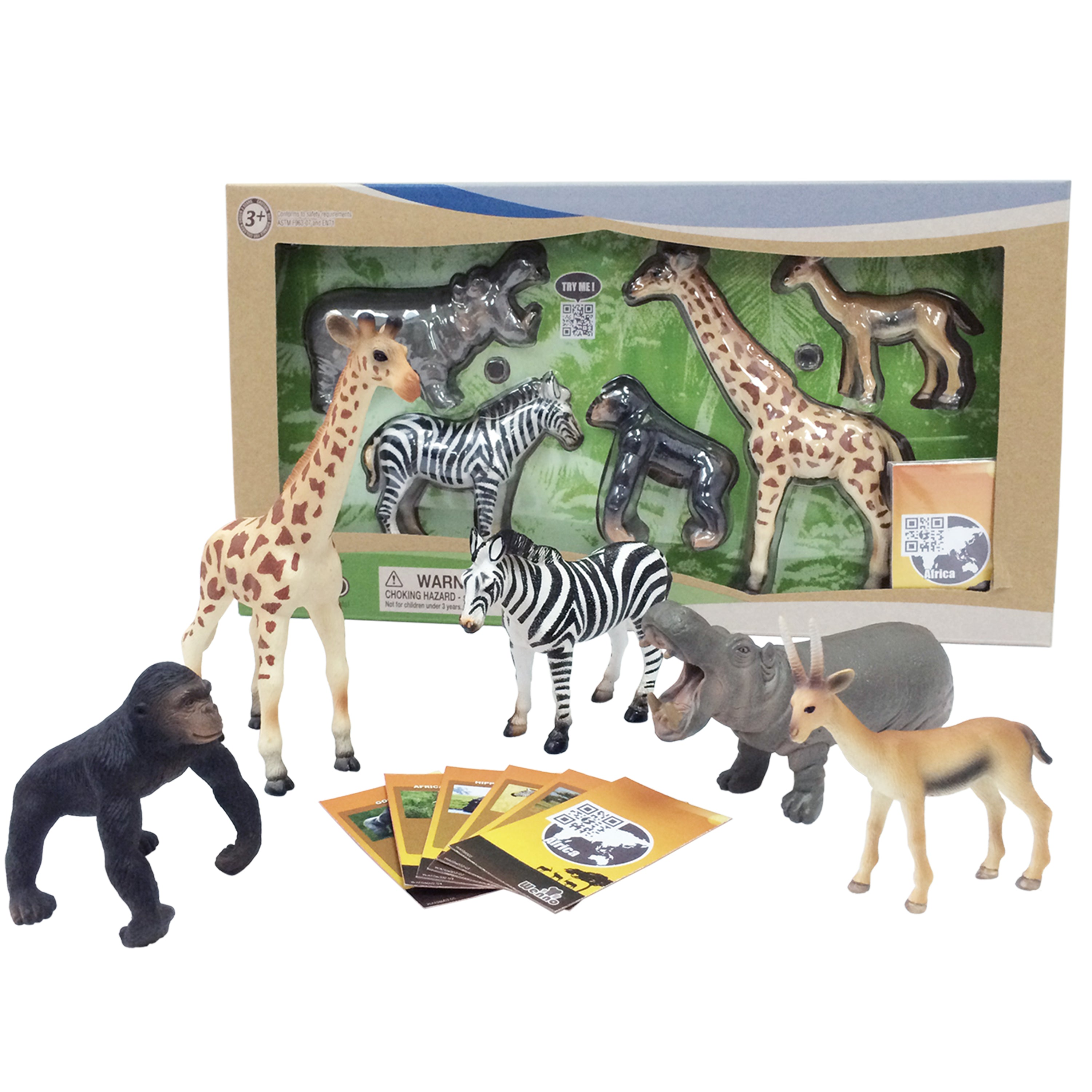 Jungle Safari Animal Set (Series 2) with Collector Cards