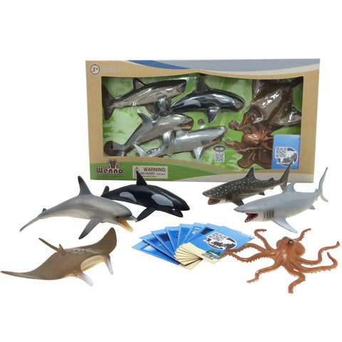 Marine Animal Safari Set with Collector Cards