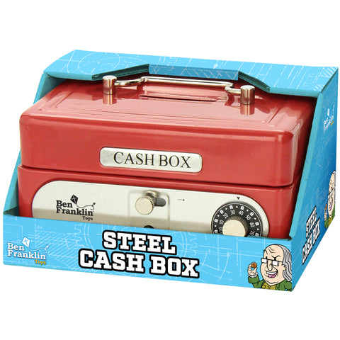 NEW! The Ben Franklin Steel Cash Box