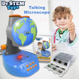 Talking Microscope with Prepared Slides