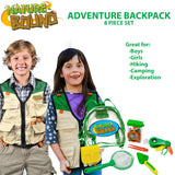 Adventure Backpack with Net, Shovel, Tongs, Habitat, Multi-Tool, & Collection Box, 7Piece Set