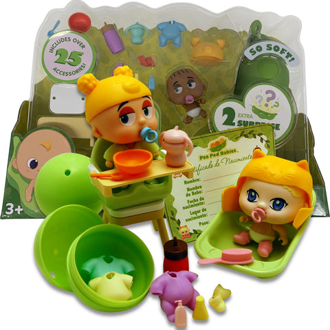 Pea Pod Babies Dinner & Bath Time Set