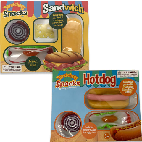 Stretcheez Snack Pack - Play Food - Two Pack Bundle