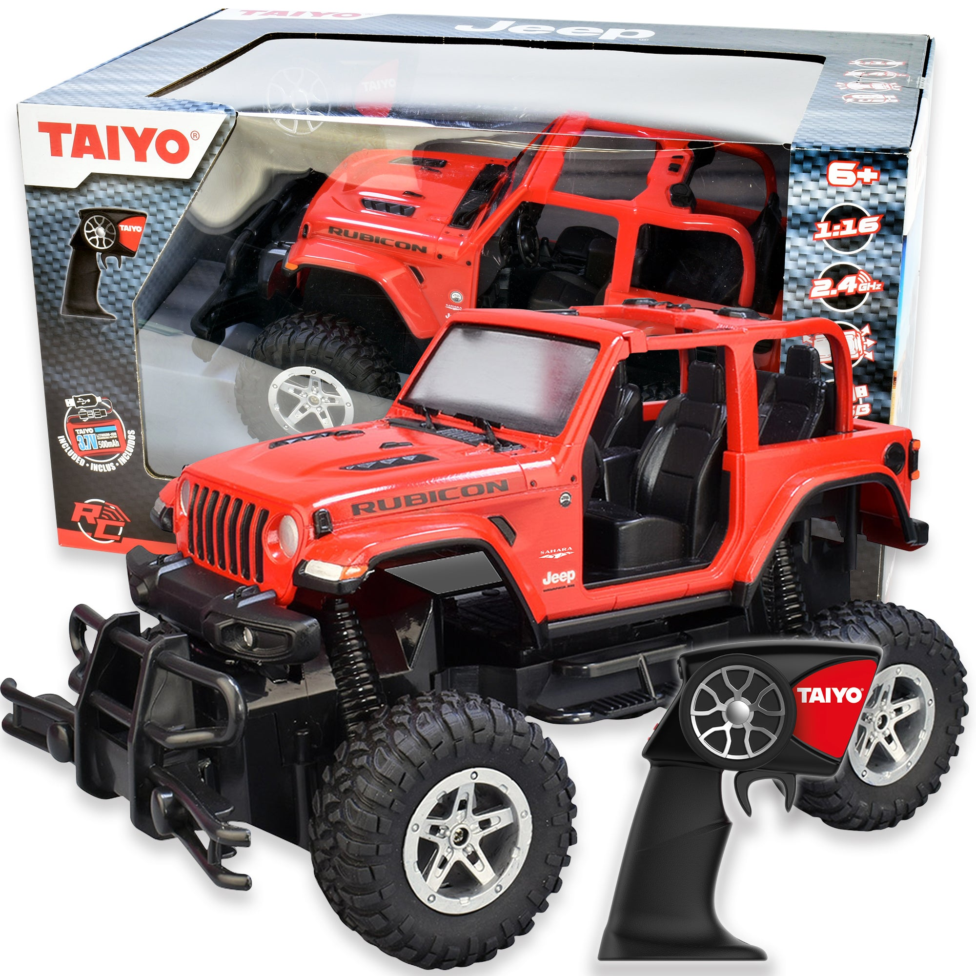 Taiyo Rc Jeep Rubicon Big 1 16 Scale Thinairbrands