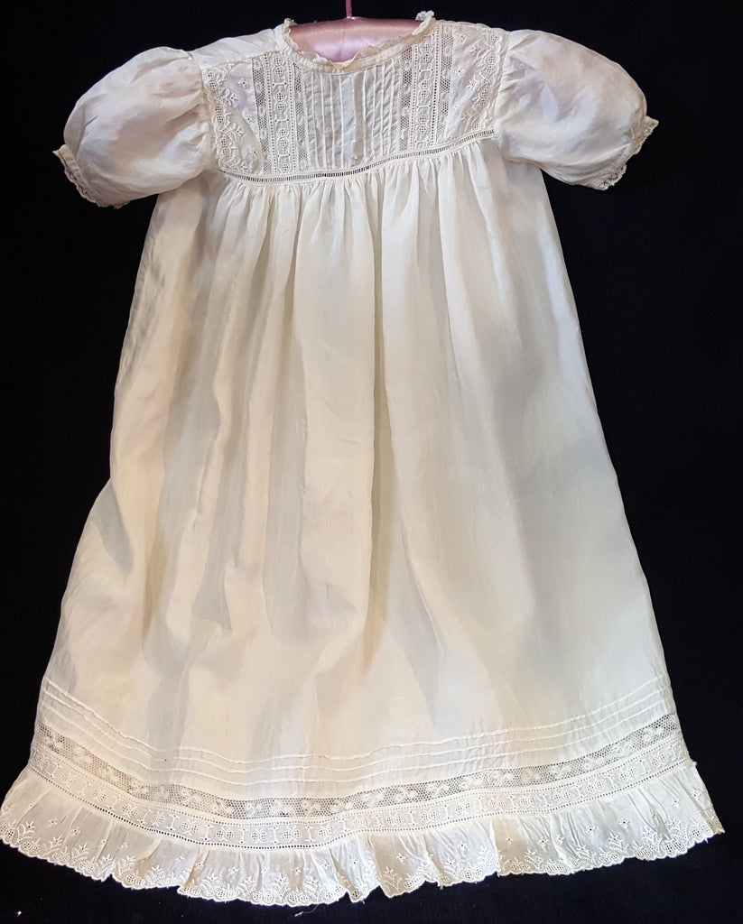 Silk Christening Gown.