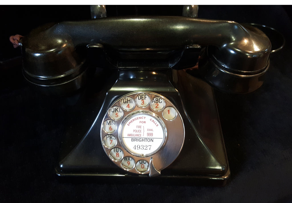 GPO Black Model 232 Deco Styled Telephone.