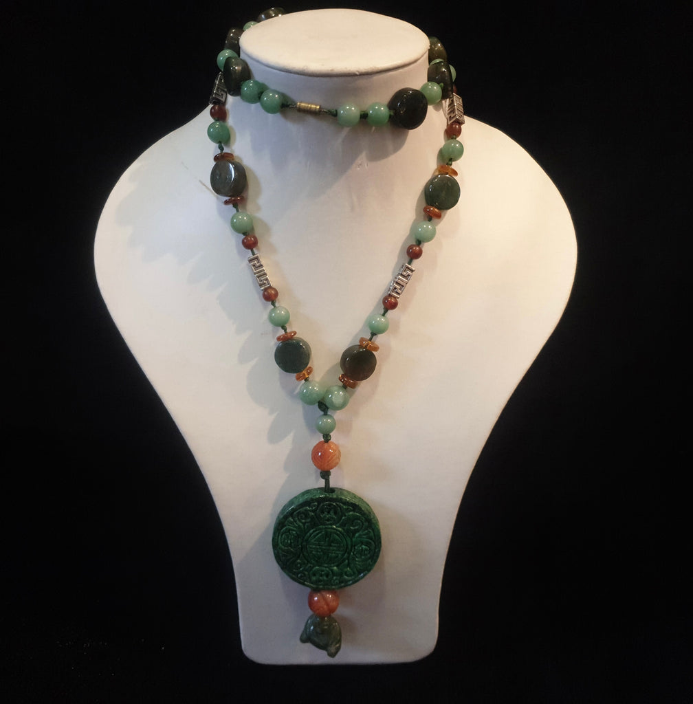 Jade Amber Necklace