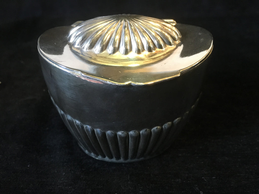 William Sharp Victorian Plated Tea Caddy circa 1890