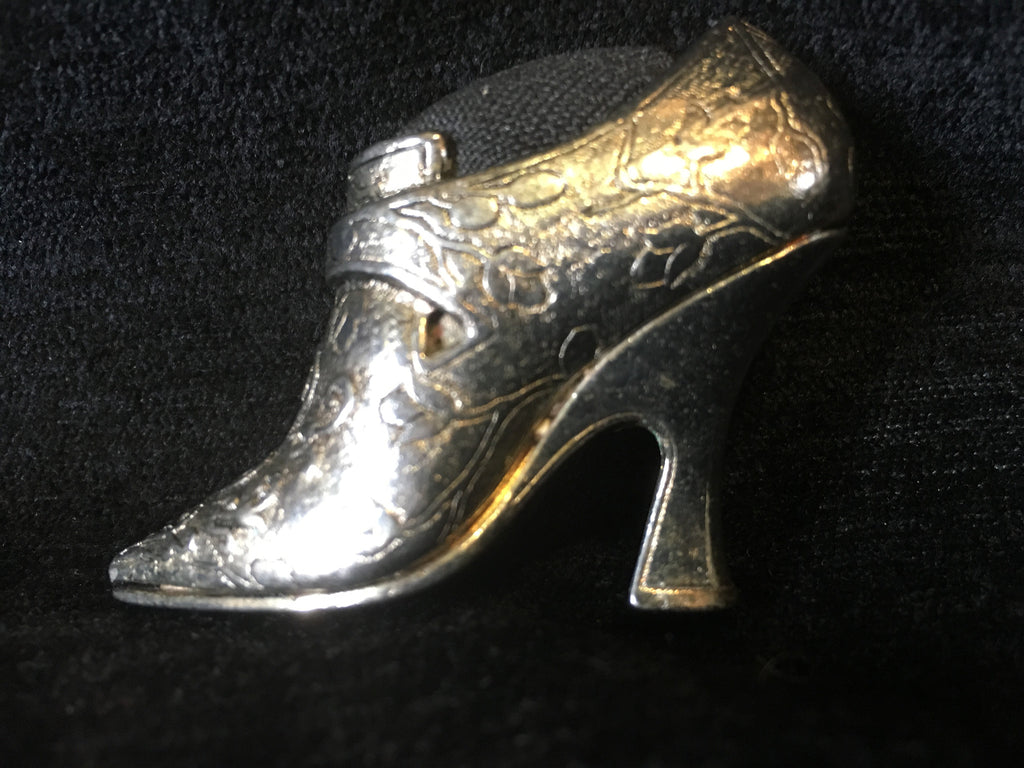 Silver Plated Shoe Pin Cushion
