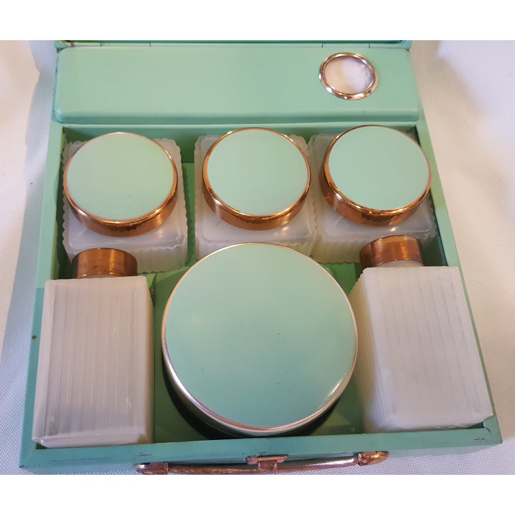 Vintage Enamel Laddies Vanity Case