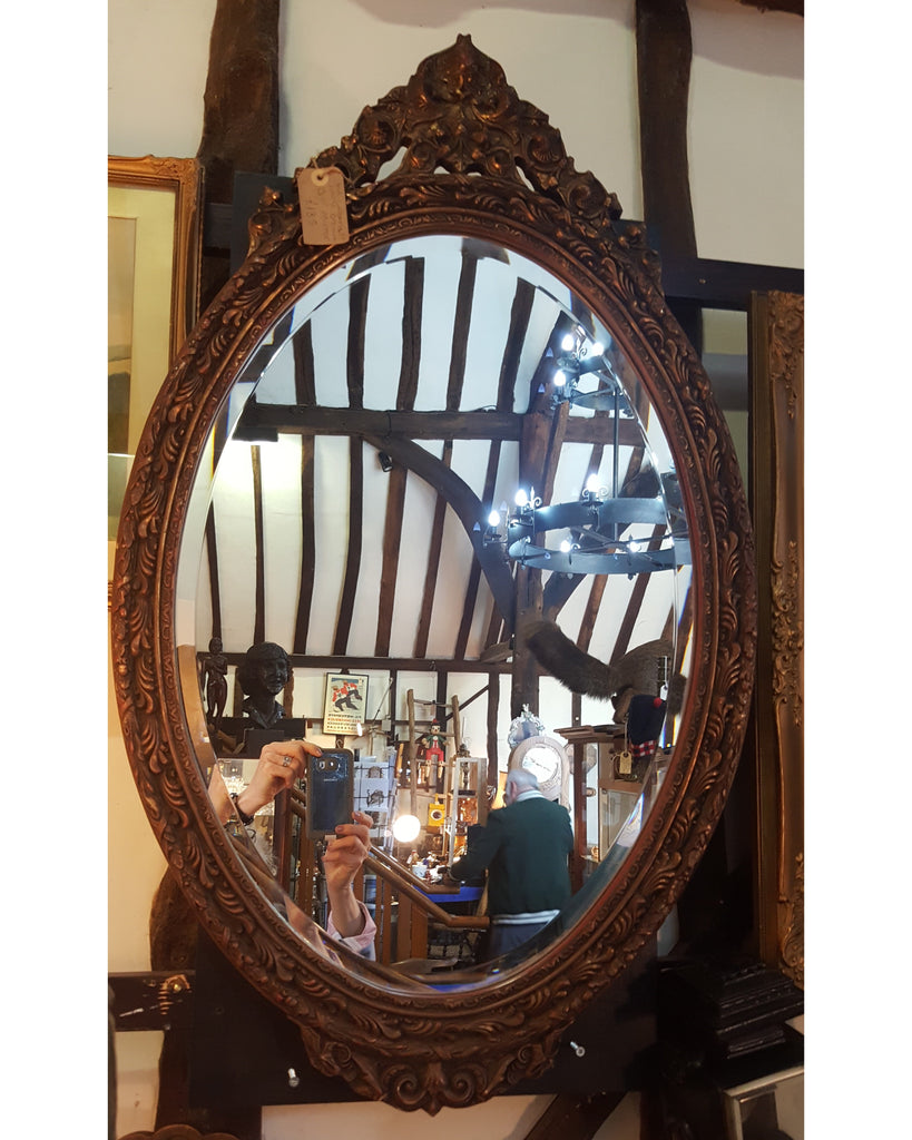 Large Ornate Gilt Mirror.
