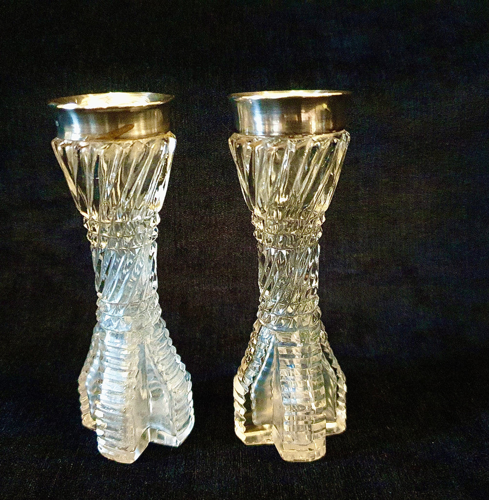 Silver Toped Bud Vases
