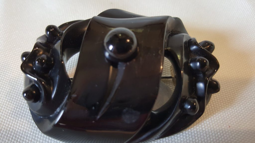 Whitby Jet Brooch