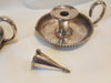 Pair Antique Candle Holders And Snuffers