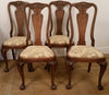 Antique oak dining chairs