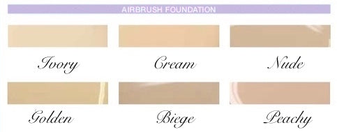 Misted Veil Airbrush Foundation Colors by Krystle Skin