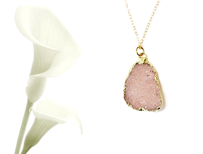 Blush Druzy Necklace
