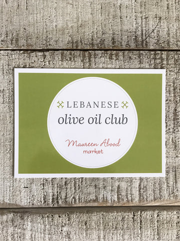 The Lebanese Olive Oil Club, 6 months of olive oil