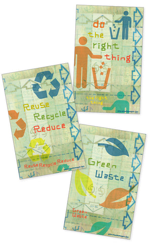Eco - Recycle Bin 3 Sticker Set