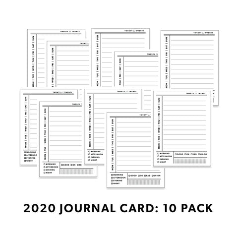 B&W Journal Cards: Day 10 Pack