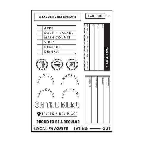 March's Project Kit Stamp: Eating Out