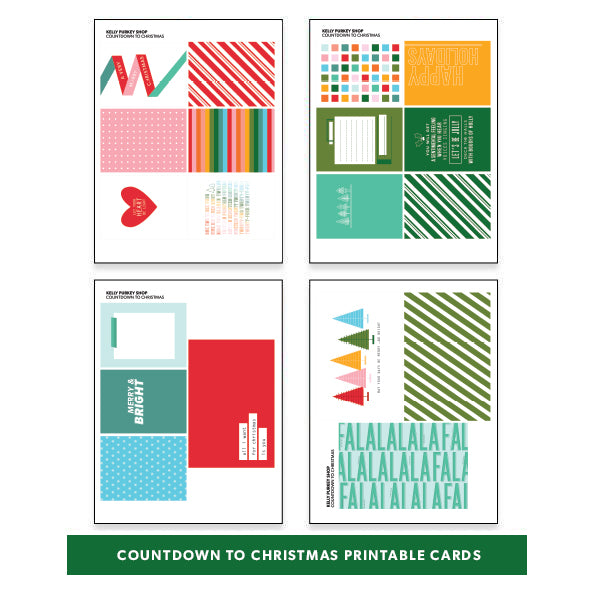 graphic relating to Countdown Printable titled Holiday vacation: Countdown towards Xmas Printable Playing cards - Kelly Purkey Retailer