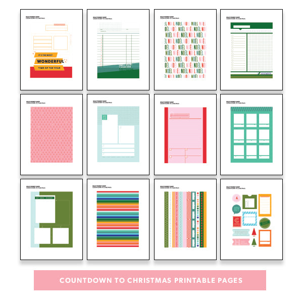 image about Countdown Printable identify Holiday vacation: Countdown toward Xmas Printable Webpages - Kelly Purkey Store