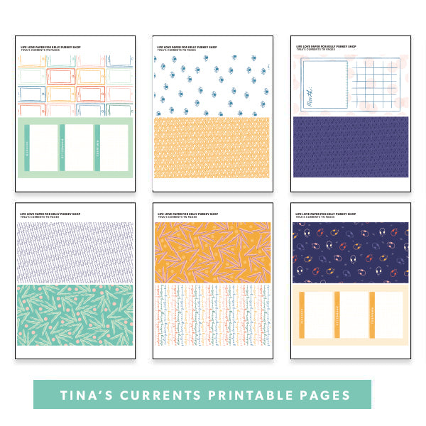 Tina's Currents Printable Pages