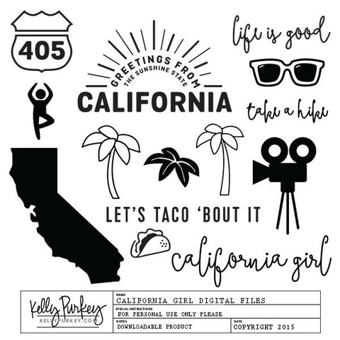 California Girl Digital Files